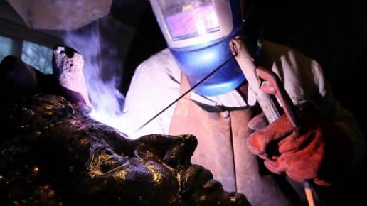 Serge Sangan - Soudure à l'arc électrique - sculpture